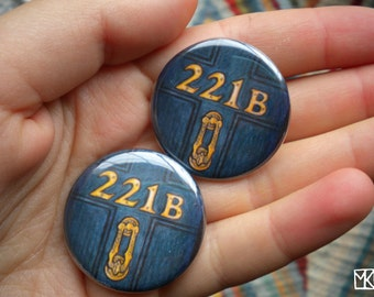 221 B Baker Street buttons