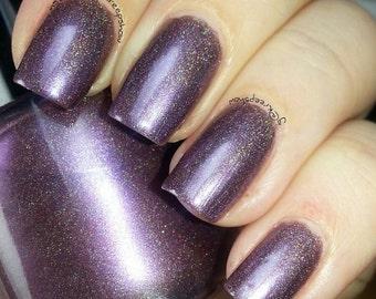 Holographic nail polish - violet femme - 7ml mini bottle