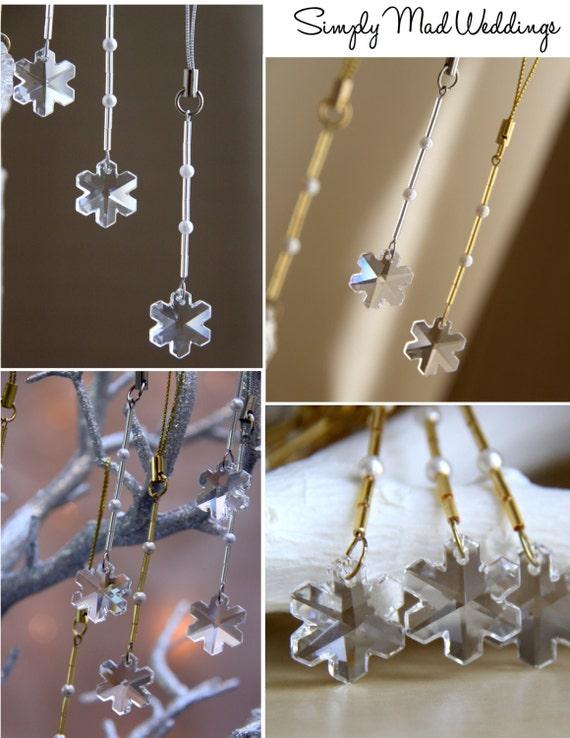 Winter Wedding Wish Tree, Snowflake Wedding Favor, Wedding Wishing Tree Decor