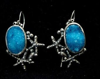 SOLD. Sterling silver earrings. 'Ocean Spray'