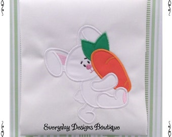 Bunny Boy 1 Machine Embroidery Applique Design