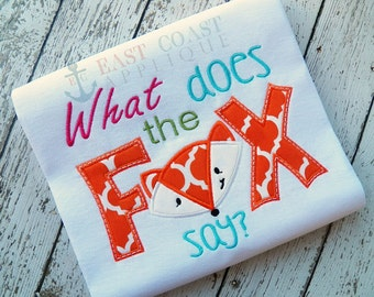 What does the FOX say? machine embroidery design