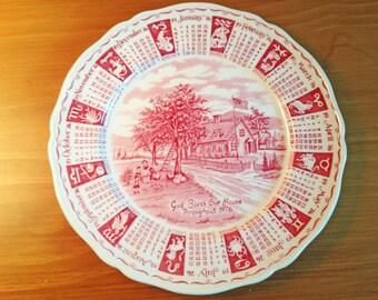 Alfred Meakin Calendar Zodiac Plate