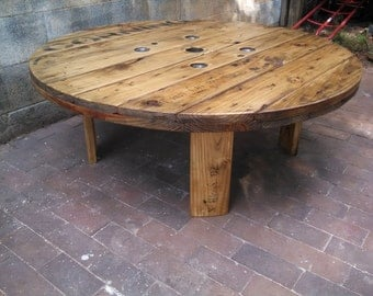This item is unavailable for Outdoor tables made out of wooden wire spools