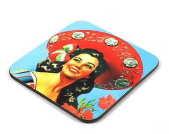Wooden Coaster, Mexico Coaster, Photo Coaster, Handmade