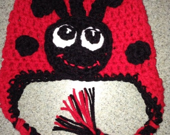 Lady Bug crochet hat/beanie