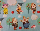 Disney 7D Seven Dwarfs - Fat Quarter Fabric Cotton Print