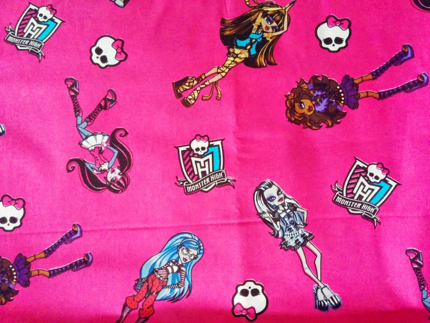 monster high fat quarter fabric cotton print