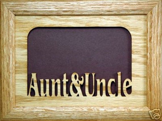 items similar to aunt and uncle picture frame 5x7 on etsy. Black Bedroom Furniture Sets. Home Design Ideas