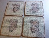 Wood Greyhound Coasters