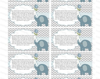 Insert for baby shower invitation bring a book instead of a card elephant baby shower invitation insert boy baby shower (49et) download