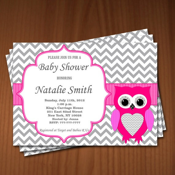 owl baby shower invitation girl baby shower invitations printable baby