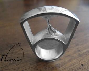 Tornado silver Ring - Bague Tornade en argent