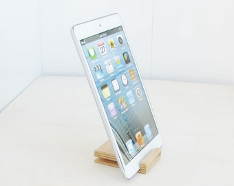 White beige stand, gift idea, wood iphone stand, ipad iPhone stand, phone stand, smartphone stand, Tablet Phone Stands, gadget, Wood