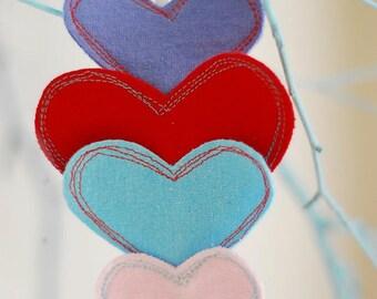 Heart headband, Valentine's Day Headband, Upcycled, Eco-Friendly Clothing, Upcycled T-shirt, Shabby Chic, Boho