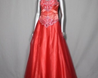 Salmon Colored Princess Ball Gown Parties, 2017 Prom Dresses,Debutante Balls