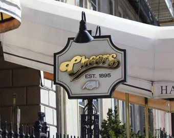 Photo Print - Cheers Bar Sign, Where Everybody Knows Your Name, Boston, New England Photos, Cheers Sitcom Photo
