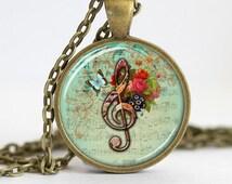 treble clef clave de sol musical note