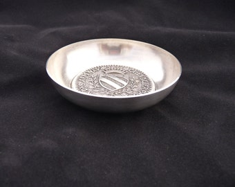 Silver Bowl by Alphonse Augis of Lyons France, Chevalier Paul from Limited Edition Nautical Series 1960s