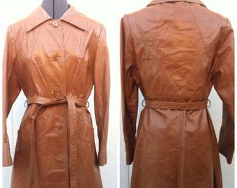 Vintage 60s Mod Leather Jacket