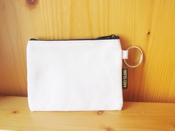 diy plain blank canvas wallet coin purse by shinekidscrafts