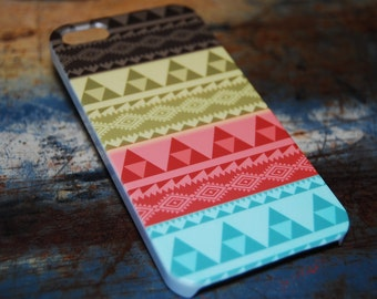 Aztec Indian Tribal Print Case For iPhone 6 / (4.7) / 4.7 / 5c / 5s / 5 / 4s / 4 Hard Plastic Rigid Pattern Cover Printed In USA c18
