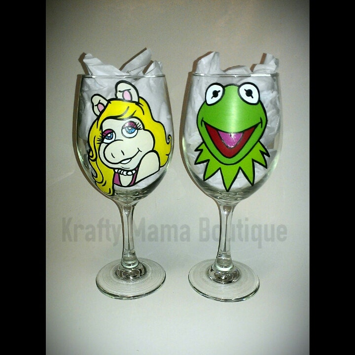 Rizzo The Rat On Tumblr: Muppets Hand Painted Glassware By Kraftymamaboutique On Etsy