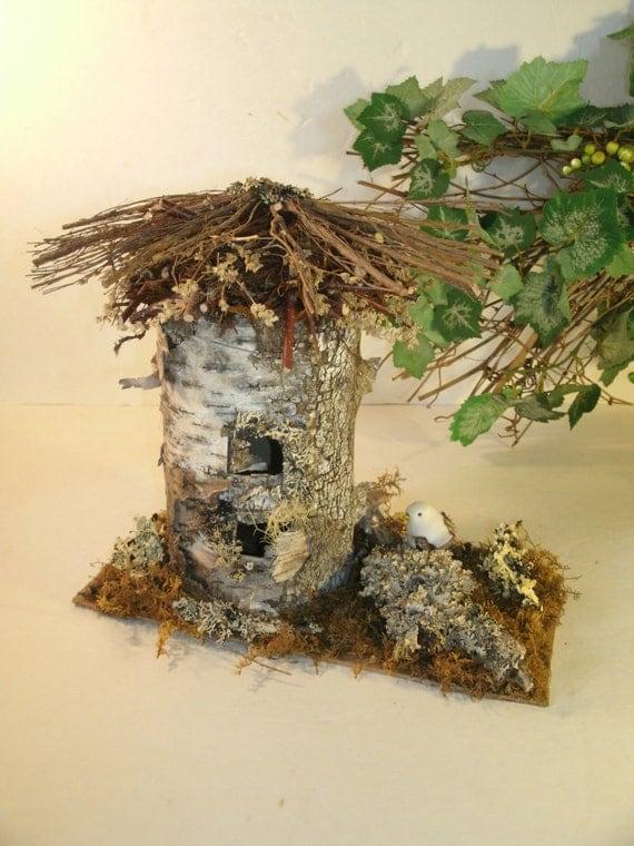 Bouleau corce f e oiseau maison fait main naturel rustique - Deco jardin fait main caen ...