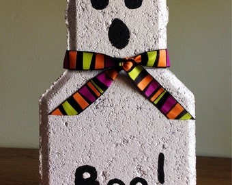 Ghost Painted Paver Brick, painted brick. Ghost paver, Halloween, painted paver