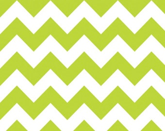 Medium Chevron Lime Green Fabric - C320-32 Lime