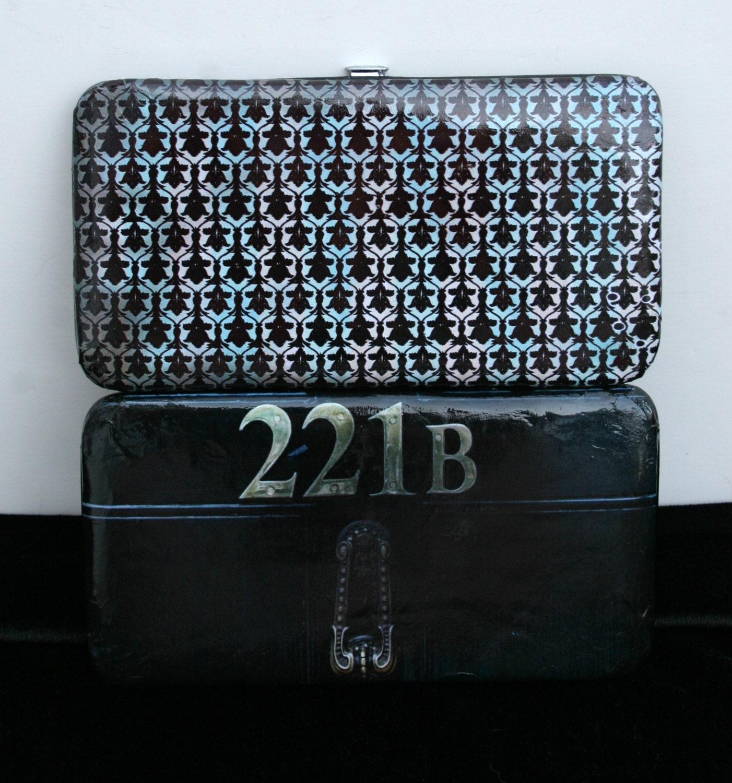 221b Baker Street Door Background Wallet 221b Baker Street