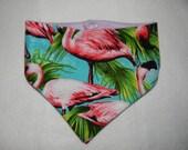 Dribble bib banana Flamingo Print baby girl, baby bib, pin up style with fleece backing