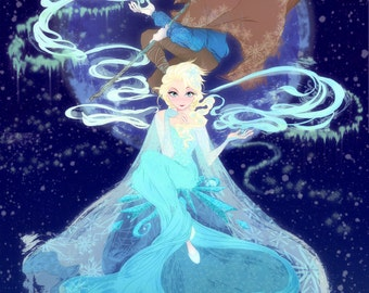 Frozen and Rise of the Guardians Poster