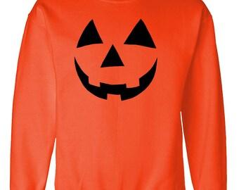 JACK O LANTERN halloween scary pumpkin sweatshirt sweat shirt