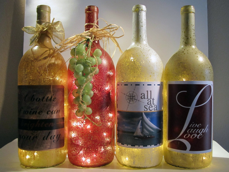 Decorative Light Up Wine Bottle Light up by