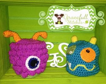 Monster Crochet Hat (Child, Teen & Adult)