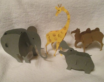 3D Party Favor Animal Puzzles