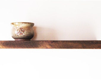 "2' L x 8"" D x 2"" H. Historic Reclaimed Wood Rustic Floating Shelves"