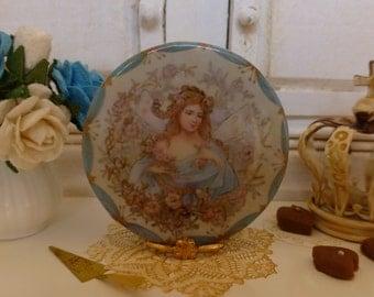 Art  Noveau Fairy  Dollhouse Miniature Plate