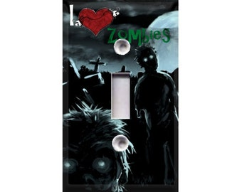 I Love Zombies Light Switch Cover