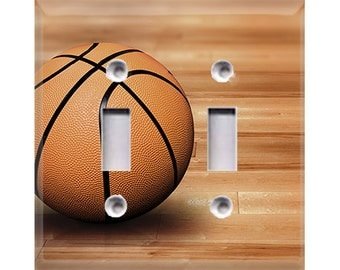 Basketball Double Light Switch Cover