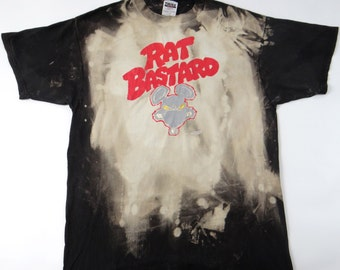 Vintage Rare 90s RAT BASTARD Shirt Crucial Comics Comicon Punk Comic Book
