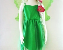 Fairy Dress Costume - Tinkerbell Birthday Outfit- Fairy Birthday Outfit- Pirate Fairy Outfit- 18M - 7Years