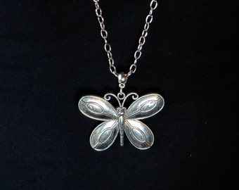 CLEARANCE - Large Butterfly Necklace