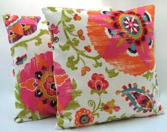 1 P Kaufmann Indoor/Outdoor floral pillow cover, cushion, 18x18, decorative throw pillow, decorative pillow, home decor