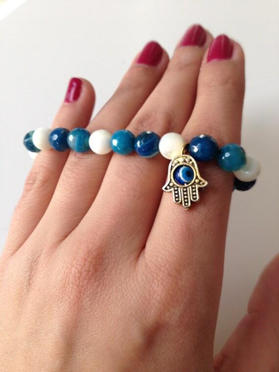 persian handmade evil eye bracelet