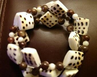 Memory Wire Bracelet:  A Spot of Inspiration