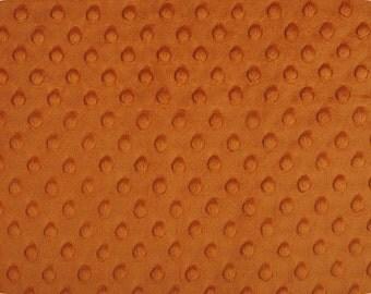 Standard Half or Fat Half - Rust Dimple Dot Minky by Shannon Fabrics