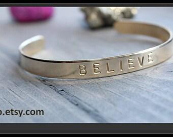 Believe Brass Cuff Bracelet