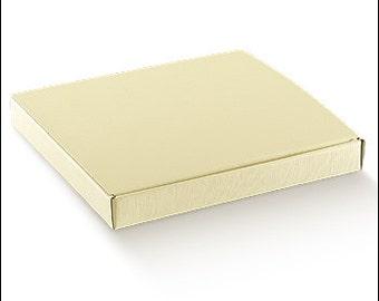 cardboard box ivory favor box DIY photo holder cm 22x17x3